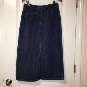 Christopher & Banks Skirts - Christopher & Banks denim modest skirt size 10